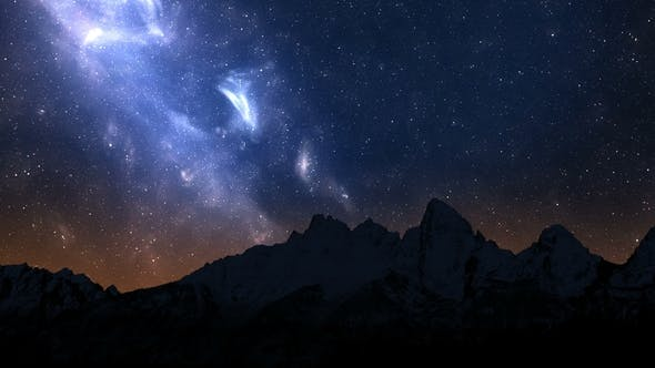 Night Sky in the Mountains