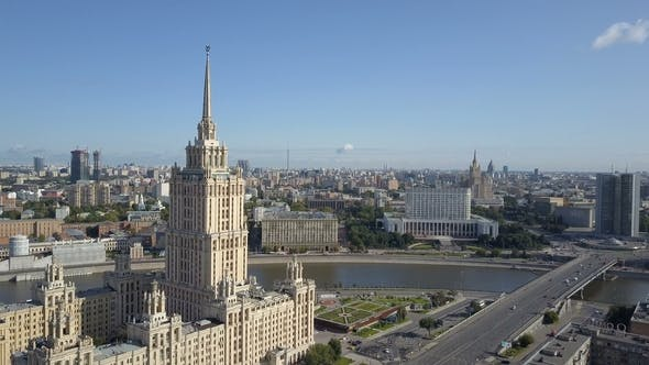 Thumbnail for Aerial View of Hotel Ukraine in Moscow