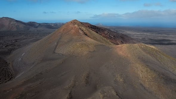 Crater Near Timanfaya National Park, Lanzarote, Canary Islands