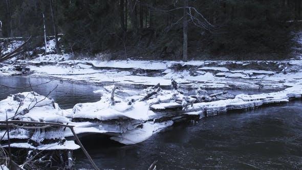 Thumbnail for Beautiful Ice Blocks Blocked the River