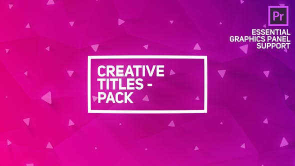 Thumbnail for Creative Titles Package for Premiere Pro | Essential Graphics