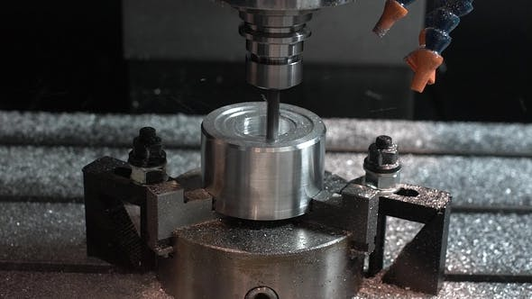 Thumbnail for Metalworking CNC Milling Machine. Cutting Metal Modern Processing Technology.