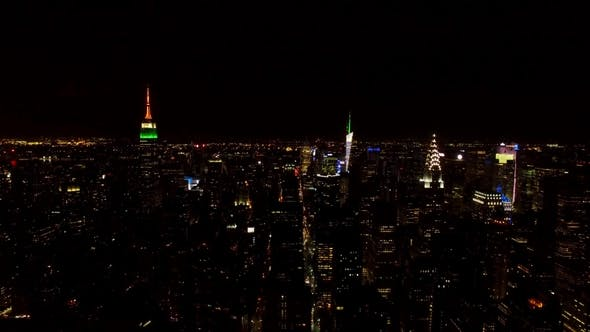Thumbnail for The Midtown Manhattan Skyline in New York City at Night