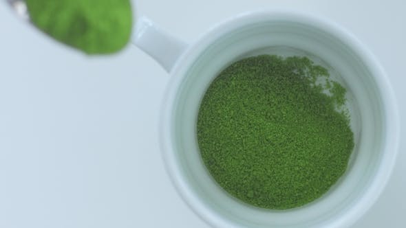 Thumbnail for Matcha Tea Preparation in Cafe By Mixed Race Barman