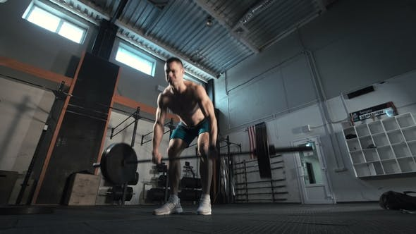 Thumbnail for Athlete Throwing Heavy Barbell