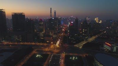 Shanghai Skyline at Twilight