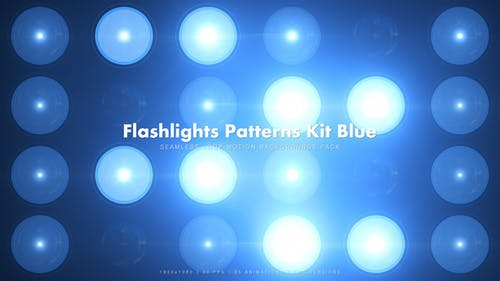 35 Flashlights Patterns Kit Blue