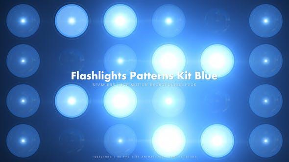 Thumbnail for 35 Flashlights Patterns Kit Blue