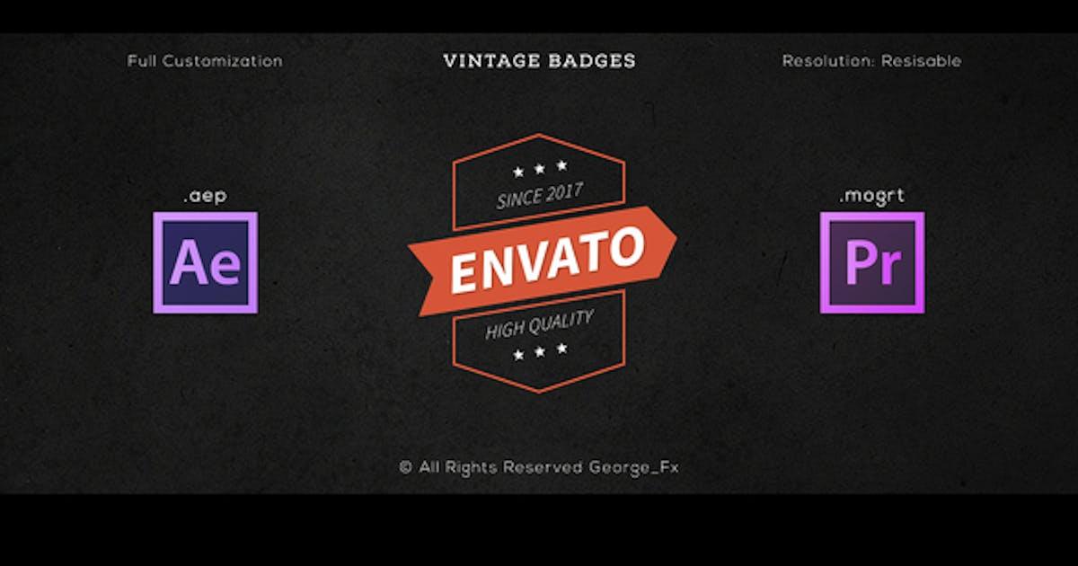 Download 16 Vintage Badges by George_Fx