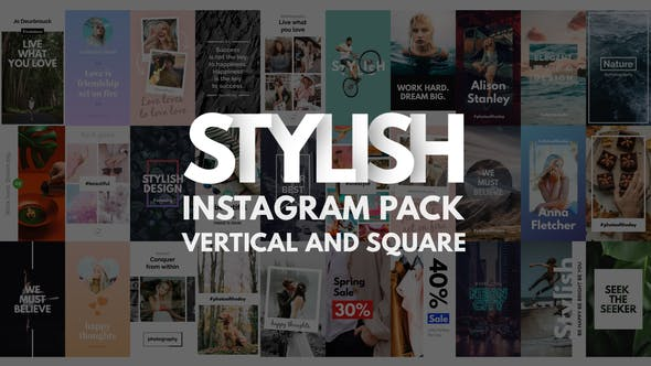 Thumbnail for Instagram Stories Pack | Vertical et Square