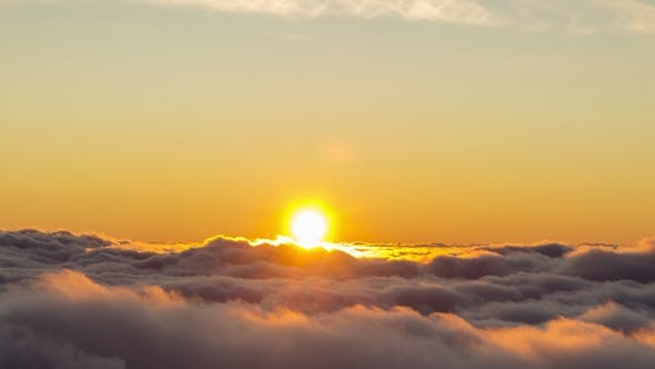 Cover Image for Sun Is Rising Over the Clouds