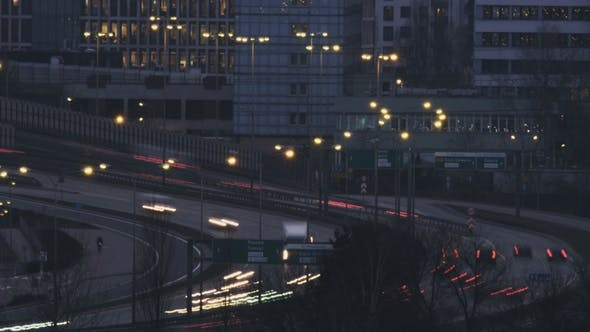 Thumbnail for Cars Moving through a Viaduct