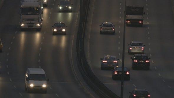 Thumbnail for Cars Moving Slowly through a Bridge