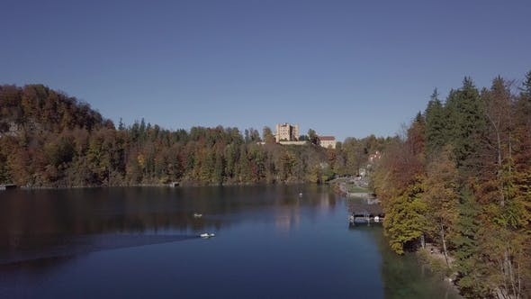 Thumbnail for Flight Over Alpsee Lake and Hohenschwangau Castle, Germany