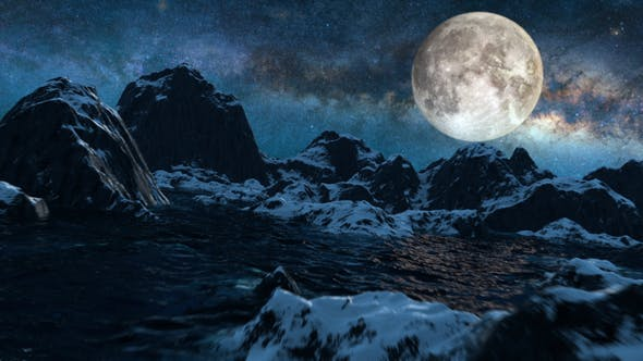 Thumbnail for Mountains Starry Night