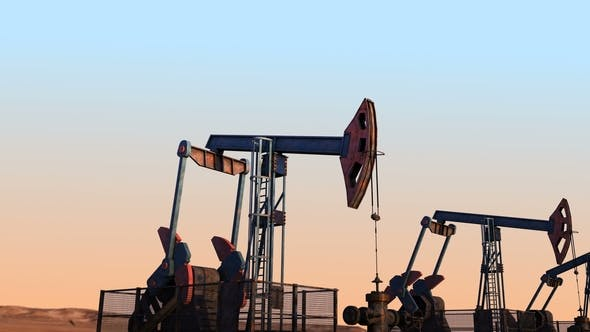 Cover Image for Move Along Oil Pump Jacks Against Clear Sky