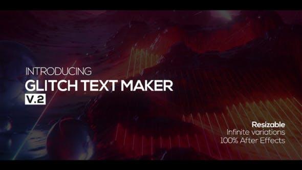 Thumbnail for Glitch Texto Maker + Sonido FX