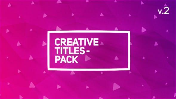 Thumbnail for Пакет креативных титулов