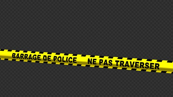 Thumbnail for Police Line - French Text - 4K
