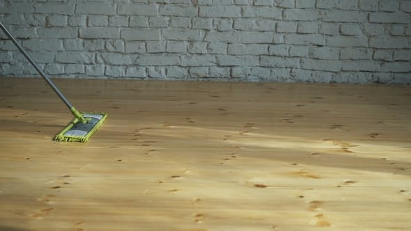 Thumbnail for House Cleaning. Washing of Wooden Floor