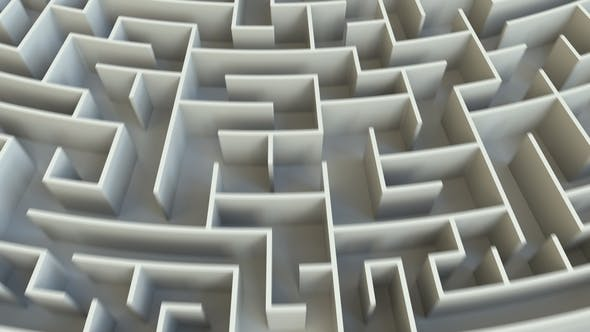 Thumbnail for FINISH Word in the Center of a Round Maze