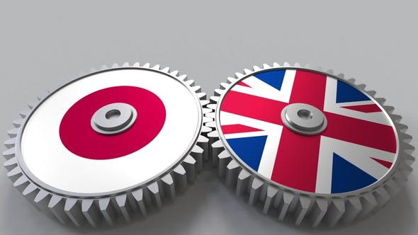 Thumbnail for Flags of Japan and The United Kingdom on Meshing Gears