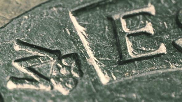 Thumbnail for Geprägte ESPANA oder SPANIEN in englischer Beschriftung auf Euro-Münze
