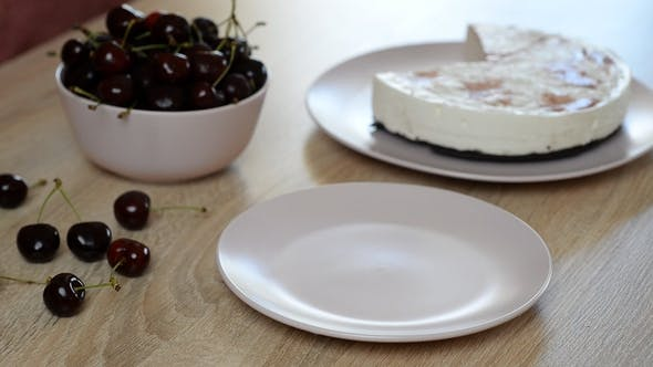 Thumbnail for Delicious and Sweet Cheesecake with Cherry Jelly