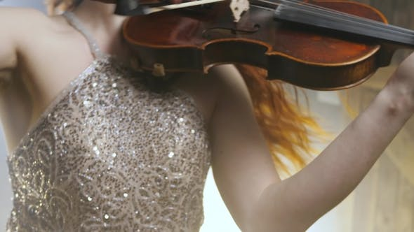 Thumbnail for Violinist Playing Classic Music on Stringed Instrument at Philharmonic