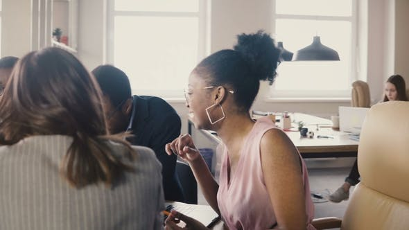 Thumbnail for Multi Ethnic Business Partners at a Board Meeting. Young Mixed Race Colleagues Develop Company