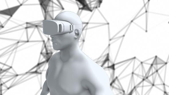 Thumbnail for Punkte der virtuellen Realität hinter Digital Human