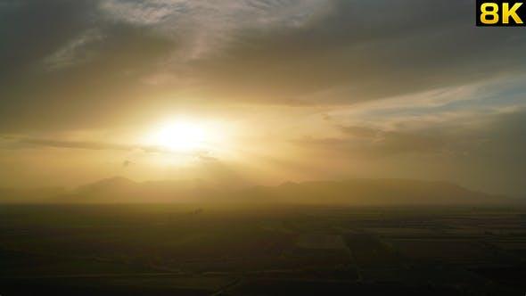 Thumbnail for Evening Sunset on Plain