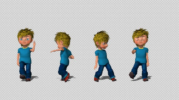 Thumbnail for Cartoon Kid Dancing