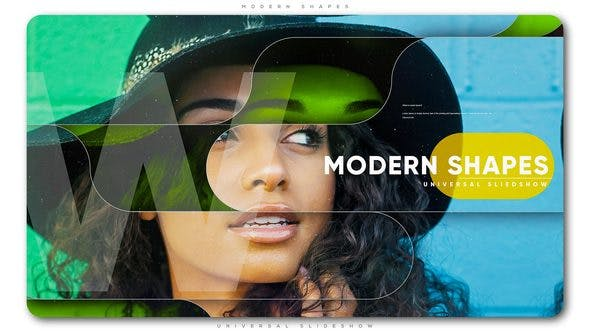 Thumbnail for Modern Shapes Universal Slideshow
