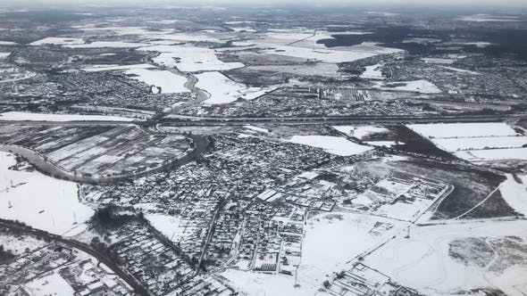 Thumbnail for Deserted City Covered in Snow