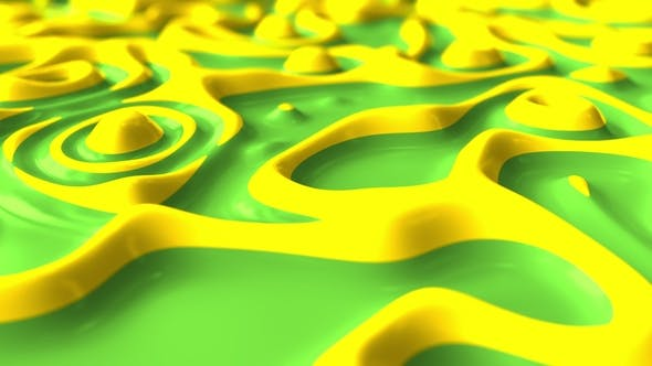 Thumbnail for Liquid Green and Yellow Paints Boiling