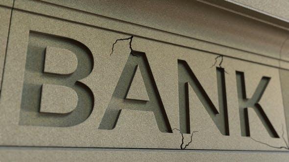 Cracking Bank Facade