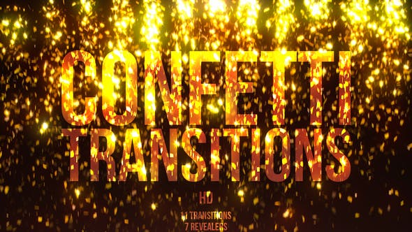 Thumbnail for Gold Confetti Transitions