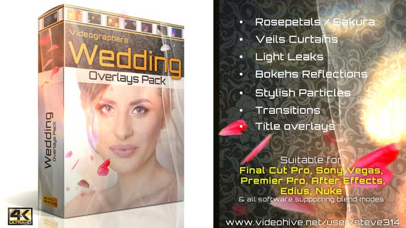 Thumbnail for Wedding Overlays Pack