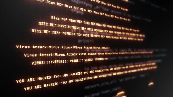 Thumbnail for Virus Code Running Down in Terminal