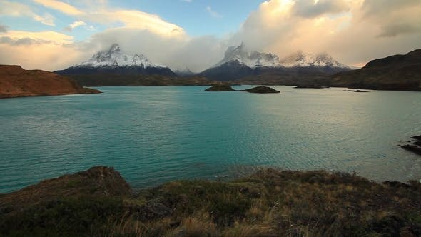 Thumbnail for Lake Pehoe at Dawn at Torres Del Paine in Chile