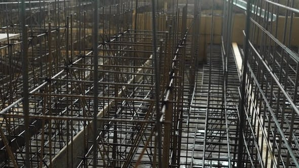 Thumbnail for Formwork of Metal Structures in Industrial Construction, Which Is Pushed To Create the Necessary
