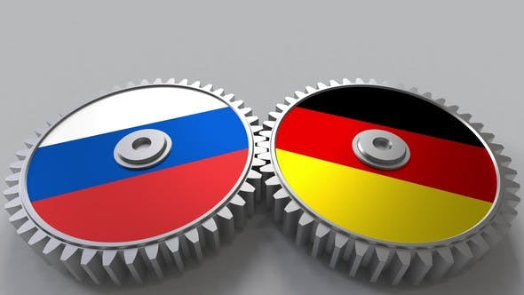 Thumbnail for Flags of Russia and Germany on Meshing Gears