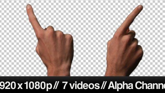 Thumbnail for Touch Screen Finger Gesture - Sliding Across