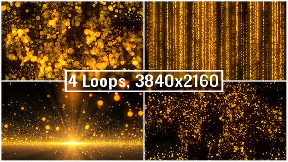Thumbnail for Golden Particles Backgrounds 4K