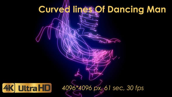 Curved Lines Of Dancing Man