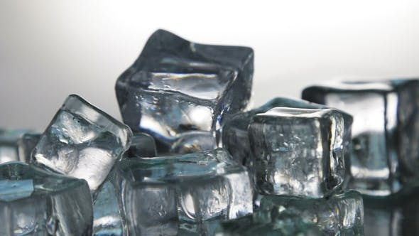 Ice Cubes for Drinks. Simulate Cold Ice Cubes