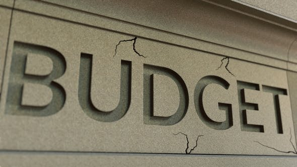 Thumbnail for Cracking BUDGET Word on the Stone Facade