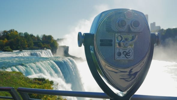 Thumbnail for Telescope for Viewing the Niagara Falls. A Popular Destination Among Tourists From All Over the