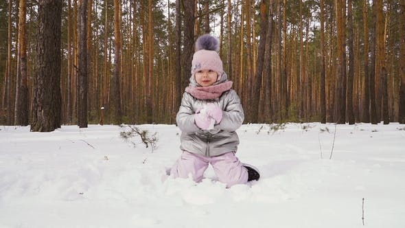 Thumbnail for Little Girl Throws Up a Snow